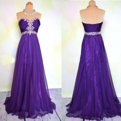 Purple Prom Dress, Evening Dress, P..