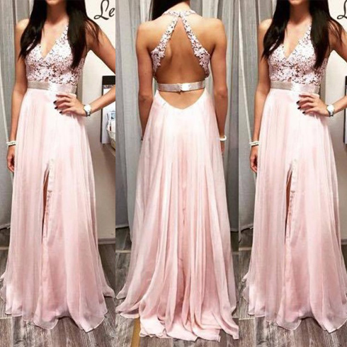 Long Chiffon Prom Dress, Evening Dress, Party Dress