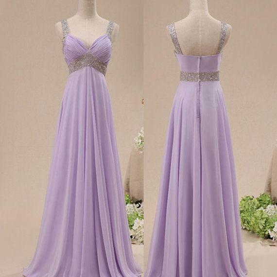 Light Purple Prom Dress, Evening Dress, Party Dress